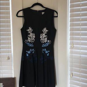 Cynthia Rocket black embroidered mini dress
